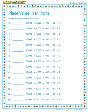 Math Place Value Worksheets For Kindergarten - Allworksheet