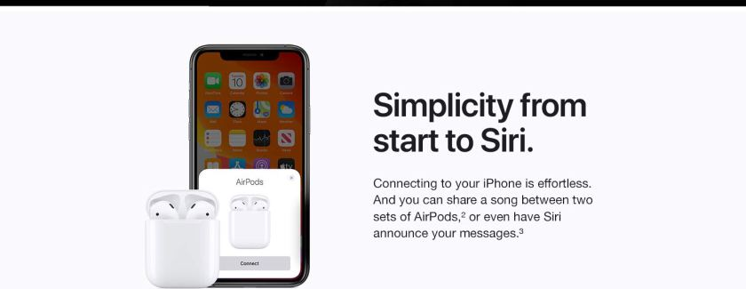 Simplicity from start to Siri.