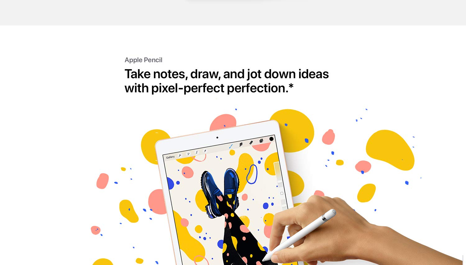 Apple Pencil Take notes, draw, and jot down ideas with pixel-perfect perfection.