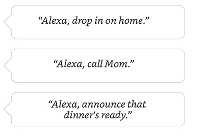 Alexa, drop in on home. <table class=