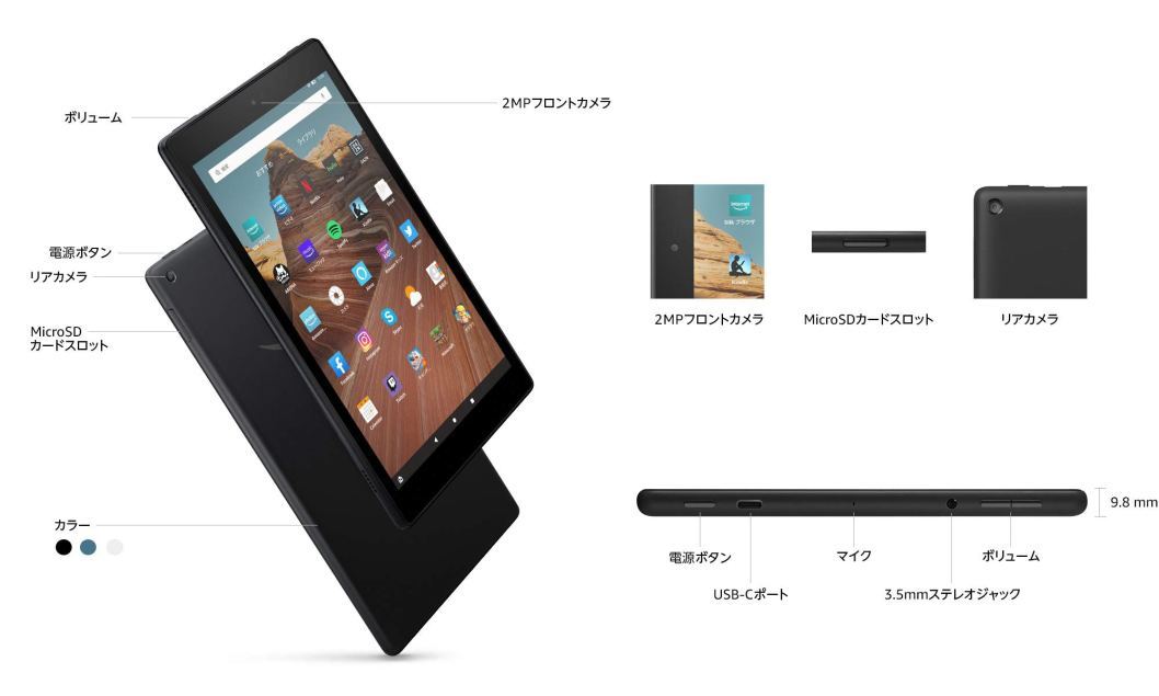 Fire HD 10コネクタの解説