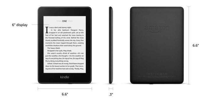 Kindle Paperwhite (10th gen) - with Built-in Light, Waterproof, 8 ...
