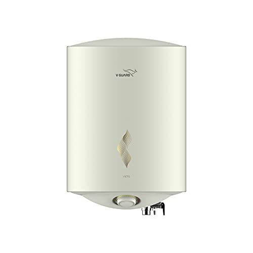V-Guard Victo 15 Litre Water Heater with Free Installation & Free Connection Pipes (BEE 5 Star Rated), White (15 Litre)