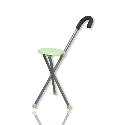 Wenzo Walking Stick with Seat (Green)