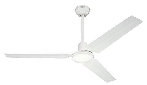 Westinghouse Lighting, Ventilatore a soffitto Industrial, interruttore a parete, ciclo estate/inverno, Bianco, ø 142 cm...
