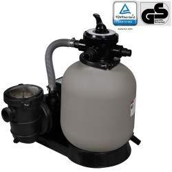 vidaXL Pompa Con Filtro a Sabbia 600W 17000L/h Acqua Piscine Fontane Laghetti