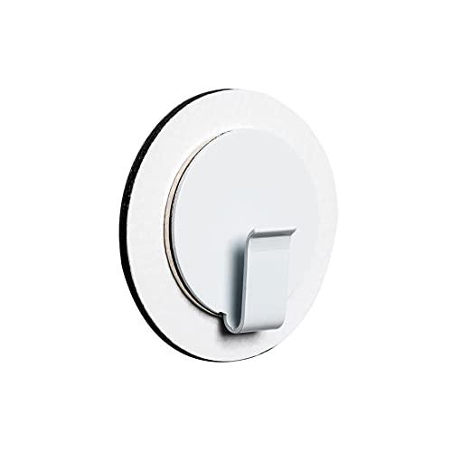 silwy - Gancio magnetico con gel nano in metallo, riutilizzabile, perfetto per strofinacci, 1 x tappetino da 6,5 cm, bianco + 1 x lever in bianco
