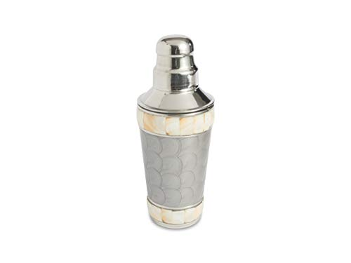 Julia Knight Classic Cocktail Shaker, 9.25-Inch, Platinum, Silver