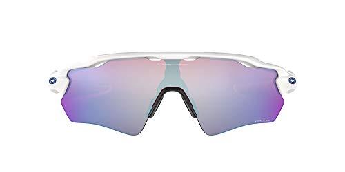Oakley Men's OO9208 Radar EV Path Shield Sunglasses, Polished White/Prizm Snow Sapphire, 38 mm