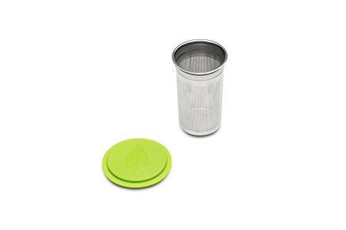 Jarware Tea Infuser Lid for Regular Mouth Mason Jars, Green