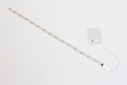 Cinta de luz LED RGB de 50 cm Con caja de batería, mini con