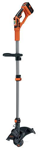 BLACK+DECKER GLC3630L20-QW Coupe-bordures sans fil - 2 vitesses - 1 batterie - Tube telescopique et 2nd poignée réglable, 36V, Orange, 30 cm