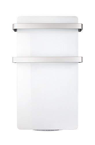Haverland HERCULES-15 | Radiateur Sèche-serviettes Electrique | 1500 W | Programmateur LCD | Soufflerie 1000 W | Design Elégant | Panneau en Verre Rayonnant Mural | Blanc