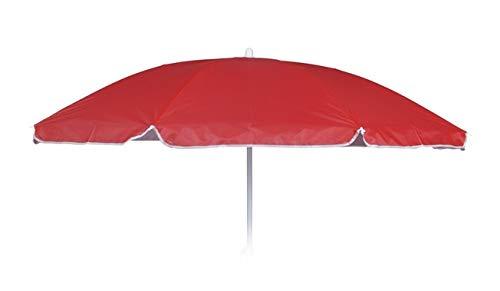 Meinposten. Sonnenschirm Ø 160 cm Strandschirm höhenverstellbar Strand Balkonschirm Schirm (Rot)