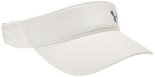 Under Armour Women's Fly Fast Visor, White (100)/Silver, One Size Fits All