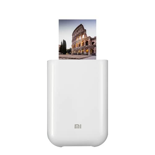 Xiaomi Mi Portable Photo Printer, Stampante Laser Portatile, Carta fotografica lucida, Stampa termica, Connessione Bluetooth/USB/WLAN, Bianco, Versione Italiana