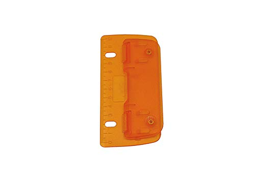 Wedo 67806 Taschenlocher (Kunststoff zum Abheften für 8 cm Lochung, 2 fach, mit 12 cm Skala) orange