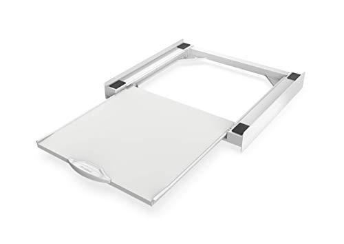 Meliconi Base Torre Pro, Kit di Sovrapposizione Universale per Lavatrice e Asciugatrice con Ripiano Estraibile e Cinghia...