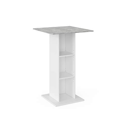 Vicco Bartisch Rodeo Stehtisch Loungetisch Tresentisch Tisch Küchentisch Regal wahlweise mit Regal (ohne Barhocker)