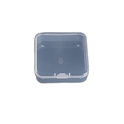 MUY Caja de Almacenamiento Transparente Cuadrada Caja de hojaldre Caja de joyería de plástico Piezas de Auriculares Caja de inyección pequeña Caja Vac