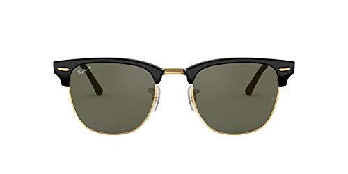 Ray-Ban RB3016 Clubmaster Square Sunglasses, Black/Polarized...