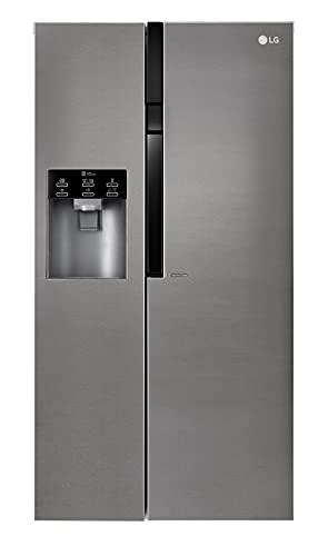 LG GSL361ICEZ Frigorifero Americano Side by Side Total No Frost con Dispenser Acqua e Ghiaccio, 606 L, 39 dB, Multi Air...