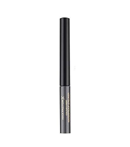 Max Factor Colour X-Pert Waterproof Eyeliner Metallic Anthracite 02 – Flüssig Eyeliner Grau – Für das perfekte Cat Eye – 1 x 2 ml