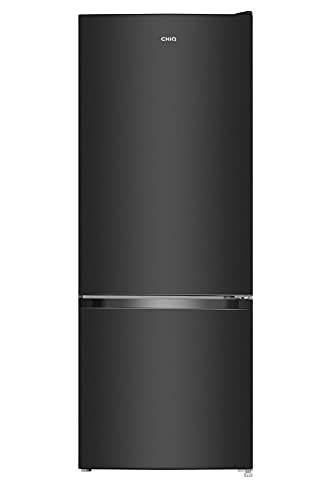 CHiQ - Frigorifero e freezer con tecnologia Low Frost, in acciaio inox scuro (227 litri, Low Frost)