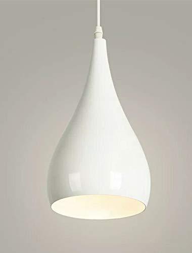 (Blanco) Lamparas de Techo Vintage Industria Metal Colgante de Luz, Iluminación Colgante E27 [Clase de eficiencia energética A+]