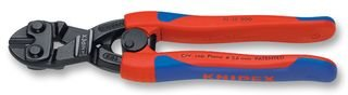 KNIPEX 71 32 200 CoBolt® Kompakt-Bolzenschneider schwarz atramentiert mit schlanken Mehrkomponenten-Hüllen 200 mm