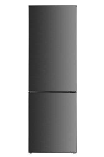 DAYA Frigo Combinato DHCB-350NM2XF0, Total Inox, Total No Frost, 293 Litri, Classe F, Profondit 60 cm, Inox