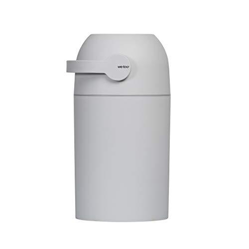Set Kidsmill Windeleimer we-too Nordvik mit Stoffwindel von Kinderhaus Blaubär   Diaper Keeper mit Geruchsstop-System   für bis zu 25 Windeln   keine extra Nachfüllkassetten nötig, Design:hellgrau