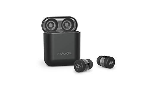Motorola VerveBuds - Auriculares Bluetooth True Wireless - Funda de Carga portátil y micrófono Integrado - 15 Horas de Juego - IPX6 Waterproof - Control táctil - Compatible con Alexa,Siri,Google