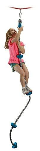 b4Adventure NinjaLine Ninja Climbing Rope with Foot Holds, Assorted Color, 8'