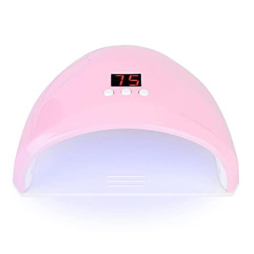 36w Nail Dryer lamp, Fashion Nail Hardening Machine Manicure Tool, Smart led uv Gel Nail Polish Dryer lamp, Nail Polish Dryer for Normal Nail Polishes with 12 Light Beads(Pink)