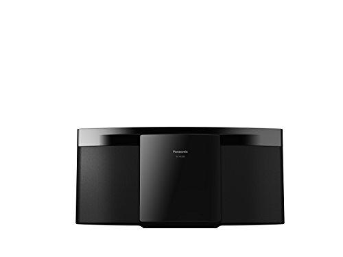 Panasonic Micro chaine hifi tout en un SC-HC200EG-K I 20W Lecteur CD Radio FM Bluetooth Port USB Design compact Finition des enceintes en tissu noir - Version Française
