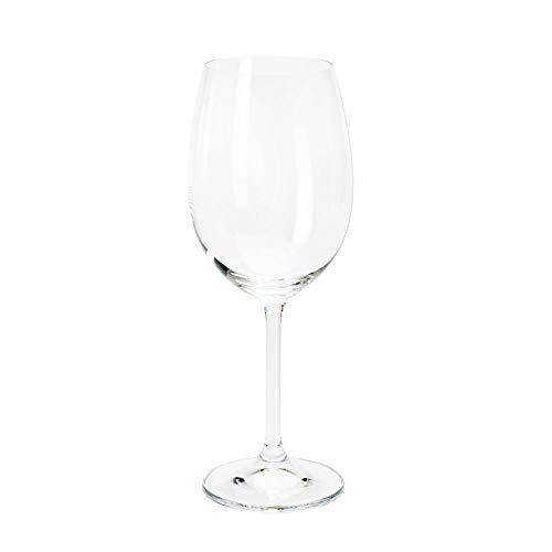 Conjunto de Taças para Vinho Tinto Gastro - 6 Peças - 450 ml - em Cristal - Bohemia