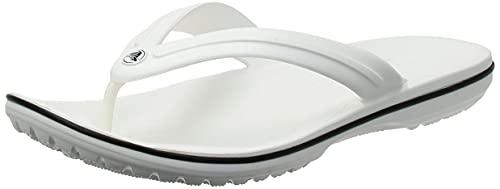 Crocs Schuhe Crocband Flip White (11033-100) 46-47 Weiss