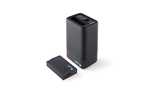 GoPro ASDBC-001-EU Caricabatteria Doppio e Batteria per Fusion, Nero