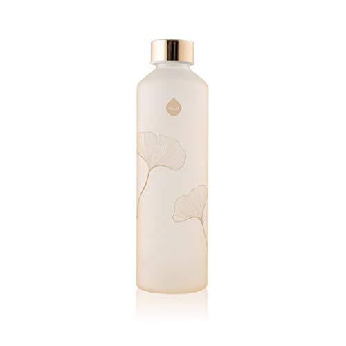 EQUA Trinkflasche aus Glas mit matten Finish, 750 ml - Borosilikatglas - BPA-Frei und Auslaufsicher