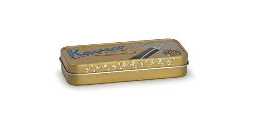 Kaweco 20000402 - Scatola di latta per penne, stile nostalgico, colore oro
