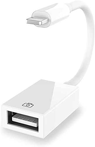Adattatore da Lighting a USB 3 a 8 pin OTG a Presa USB per Collegare Fotocamera, Telefono/Pad, Chiavetta USB, Tastiera, Hub e MIDI