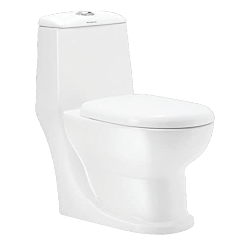 Belmonte Ceramic Floor Mounted One Piece Western Toilet/Commode/Water Closet Cardin S Trap - White