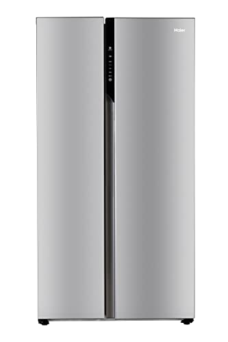 Haier 565 L Inverter Side-by-Side Door Refrigerator (HRF-619SS, Silver)
