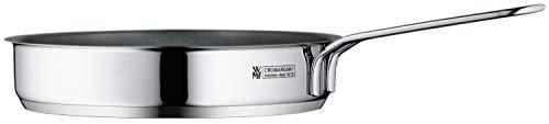 WMF, mini padella rivestita in acciaio inox Cromargan lucido, 18 cm, per piani cottura a induzione, impilabile, ideale per piccole porzioni o per single