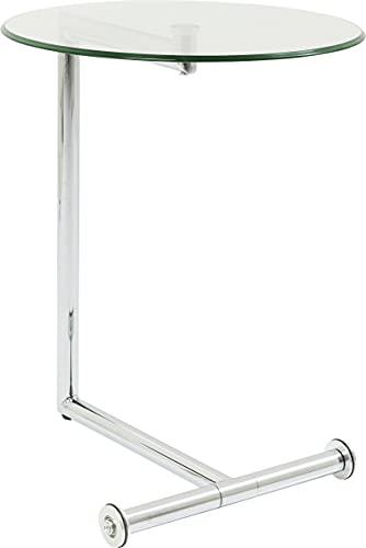 Kare Design Easy Living Tavolino D'Appoggio, Trasparente(Argento), 62 x 46 x 51 cm