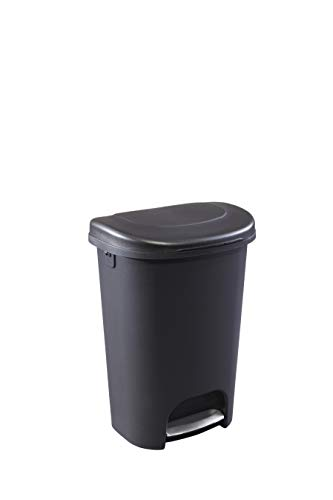 Product Image 1: Rubbermaid Step-On Lid Trash Can for Home, Kitchen, and Bathroom Garbage, 13 Gallon, Black