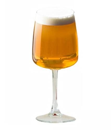 Hostelvia - Calici da Birra Edel 350 ml - Confezione da 6 - Vetro Temperato - Lavabile in Lavastoviglie - Calici da Vino