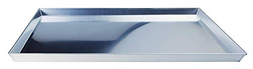 Pentole Agnelli AGN820R40 Teglia Rettangolare Bassa, Lega Alluminio 3003, Argento, 40 x 30 cm