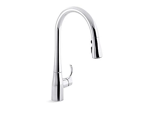 KOHLER Simplice Pull Down Kitchen Faucet, 3-Spray Faucet,...